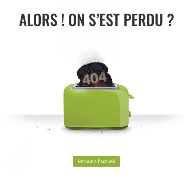 Layout Divi 404 gratuit