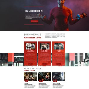 Divi Layout - coach sportif #1